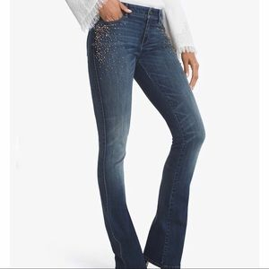 NWT • WHBM | Embellished Boot Cut Jeans